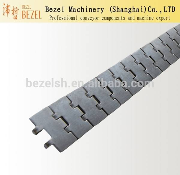Single hinge stainless steel flat top conveyor chain