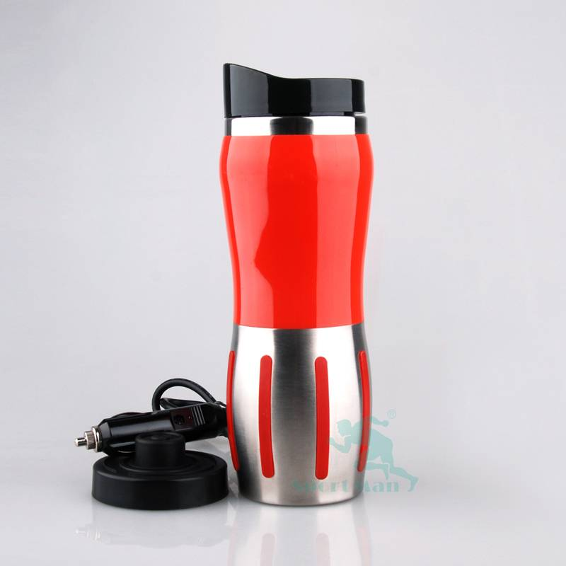 NEW Design Stainless Steel electric travel mug Heated Cup