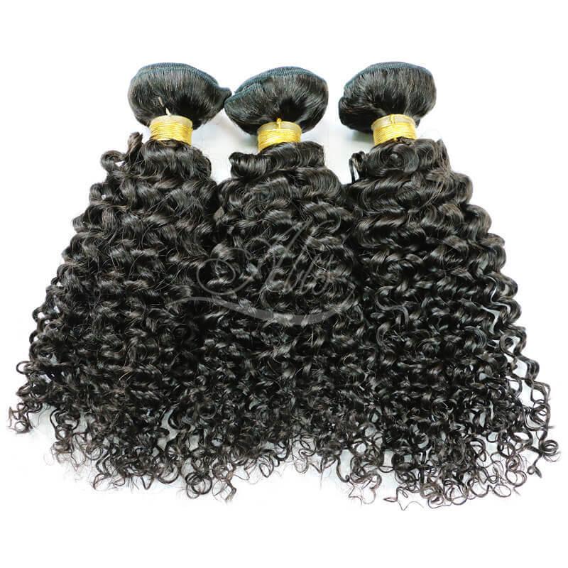 7A brazilian curly human hair weave