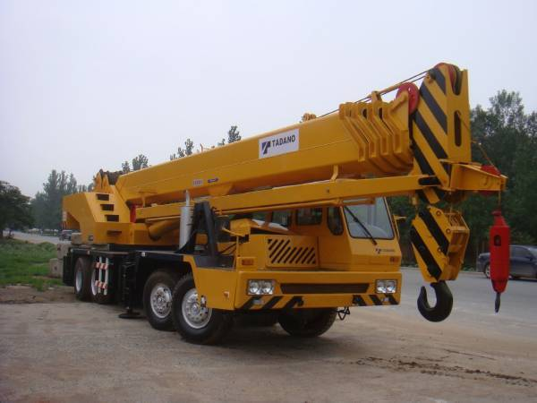 Used TADANO Truck Crane TG500E,second hand good truck crane
