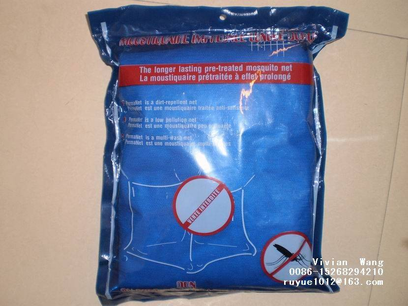 WHO approved mosquito net/moustiquaire deltamethrin treated