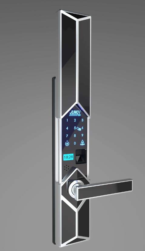 Sliding Cover Fingerprint Door Lock For Smart Home