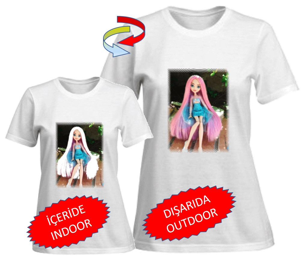 Color changing T-shirt. Princess patterned