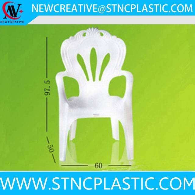 wholesale white plastic garden chairs with arm