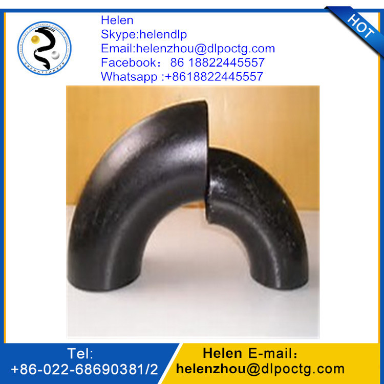 ASME ANSI B16.9 SCH 40 carbon seamless steel elbow
