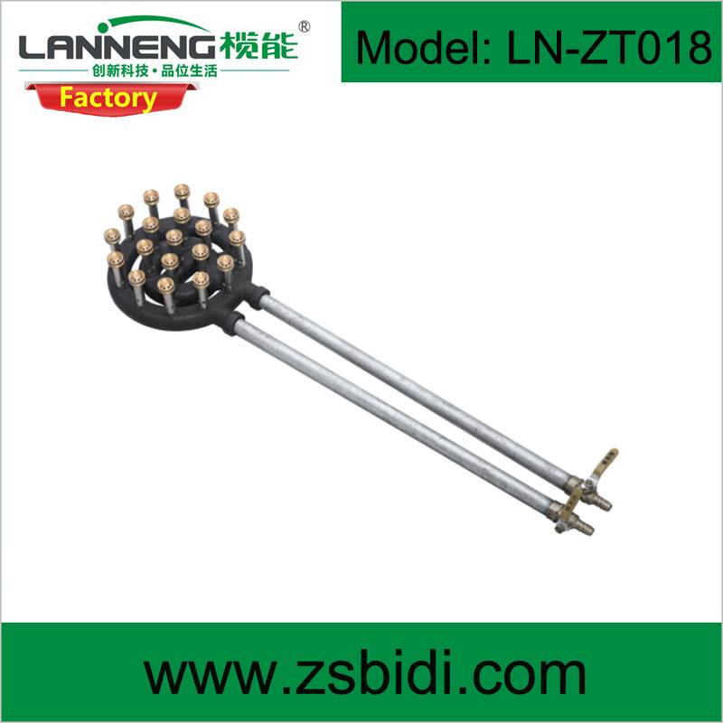 Multiple Burner Cast Iron Gas burner with dural brass combustion system high efficiency