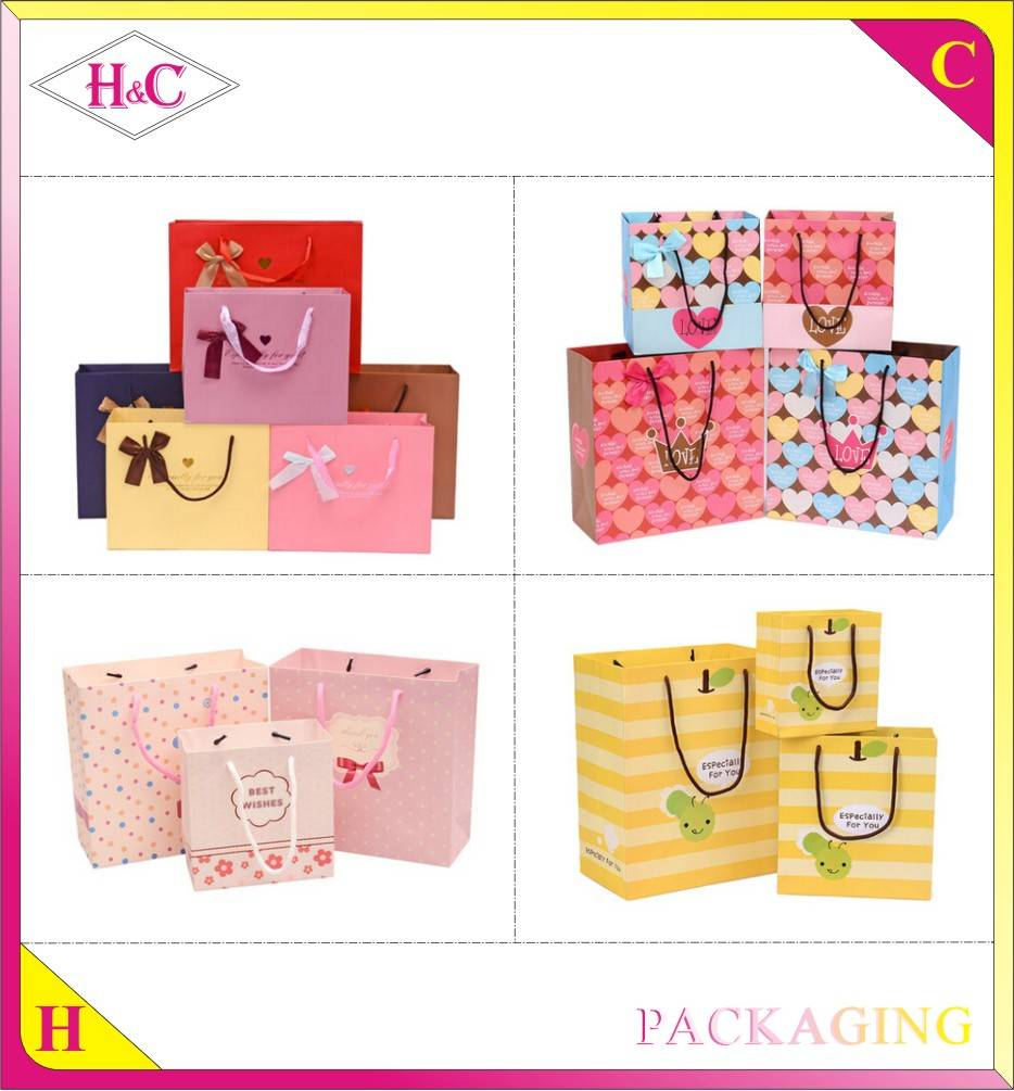 Custom Luxury Fashion Handmade Color Advertising Promotional Paper Bag