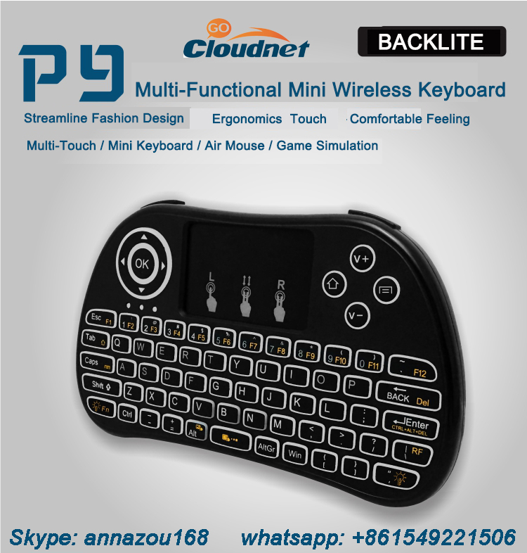 2.4g wireless mini backlit keyboard wireless keyboard for android tv box