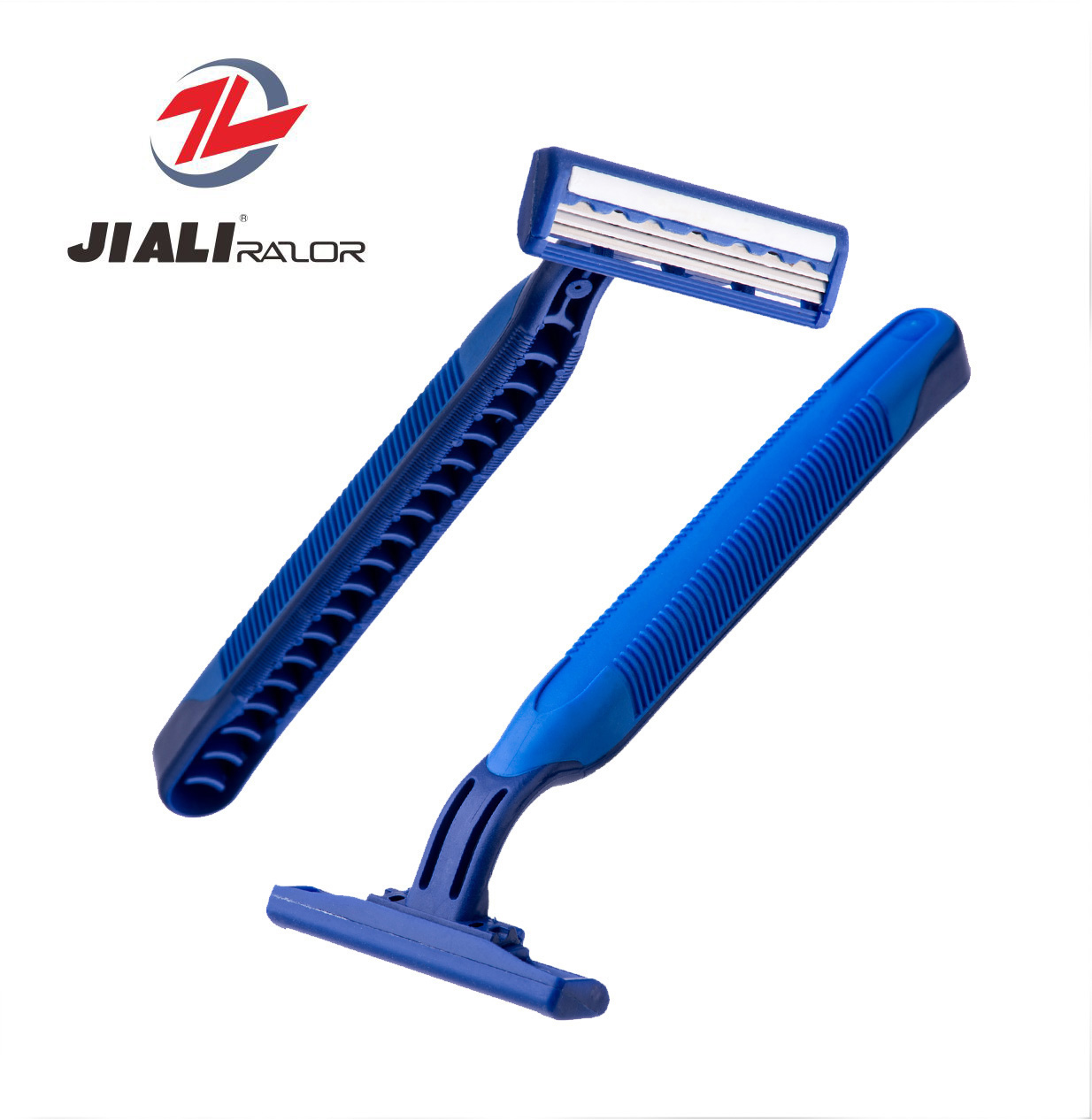 Twin Blades Fixed Head Disposable Razor with Lubricant
