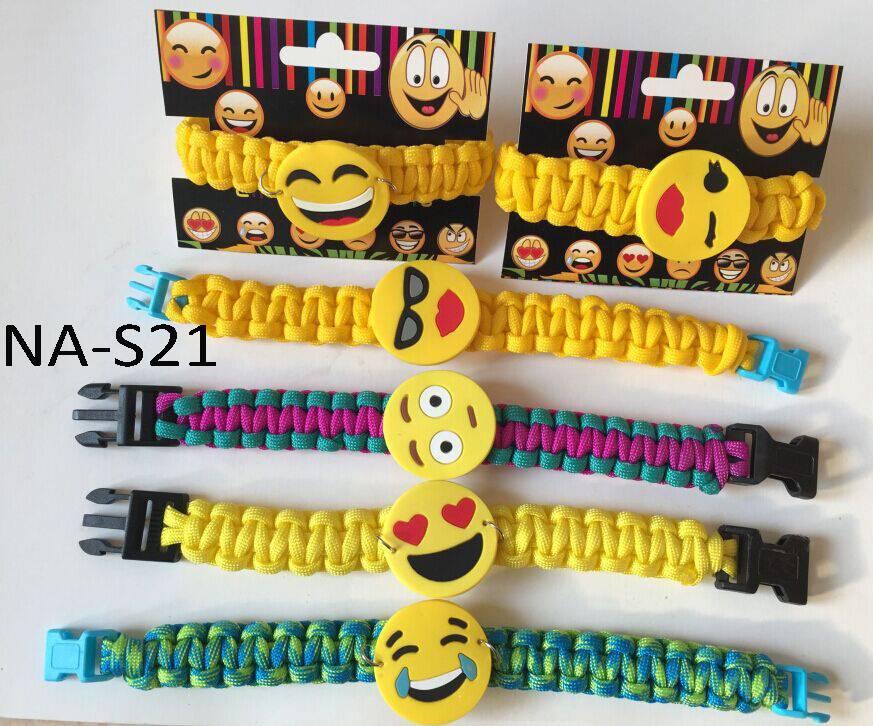 emoji bracelet,paracord bracelet,wristband