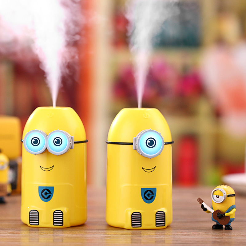 Cartoon Minions Humidifier USB Ultrasonic Essential Oil diffuser with Night Light mist maker fogger