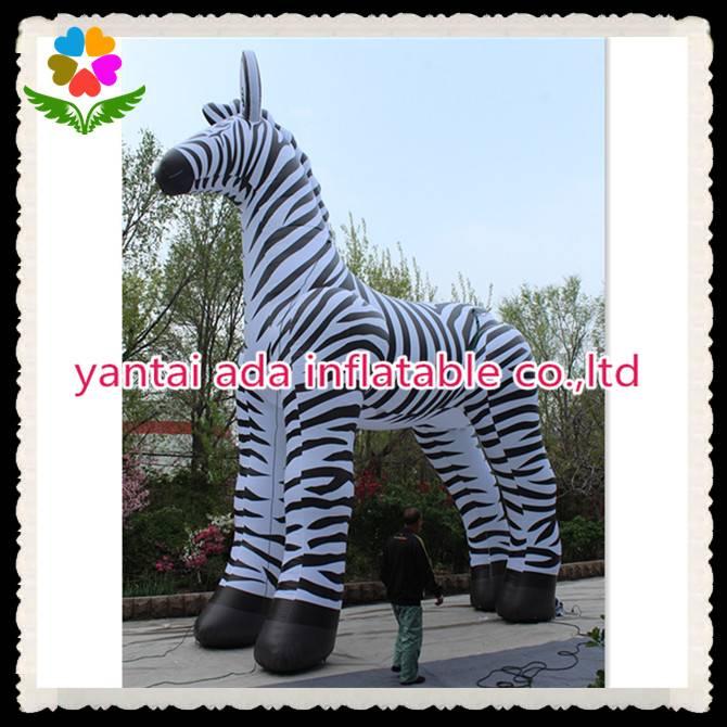Giant Advertising Inflatable Zebra Animal Cartoon