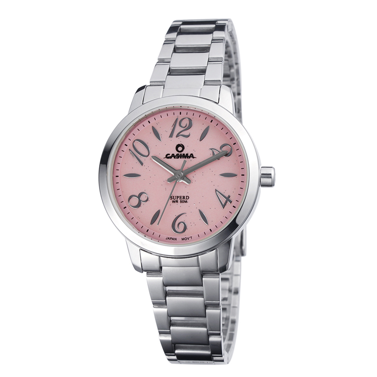 Steel strap water resistant quartz wrist watch for women