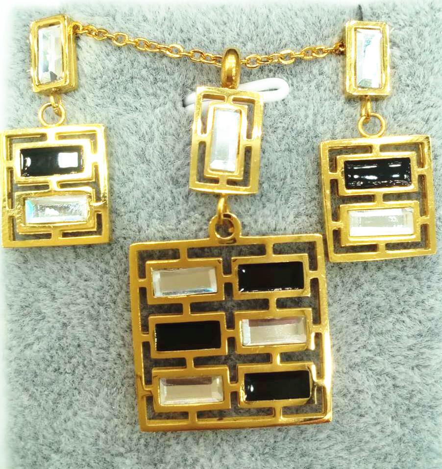 Czech stone necklace set