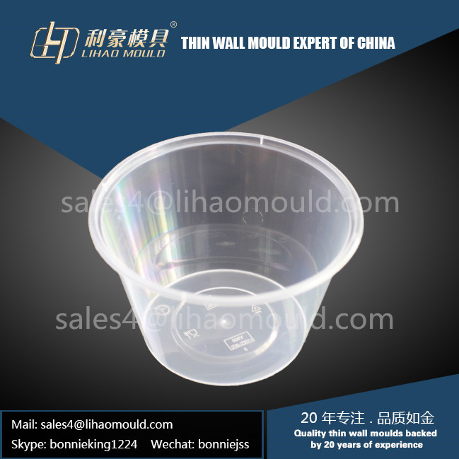 500ml round thin wall food container mould exporter