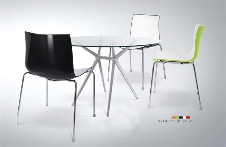 Modern Flash Restaurant ABS Plastic Dining Chair Wholesale