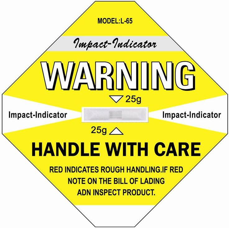 Shockwatch Label Impact Indicator Sticker Sensor Sensor Shipping Label