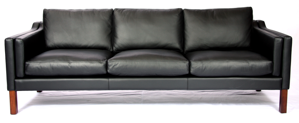 KB06 sofa 3 seats with aniline leather