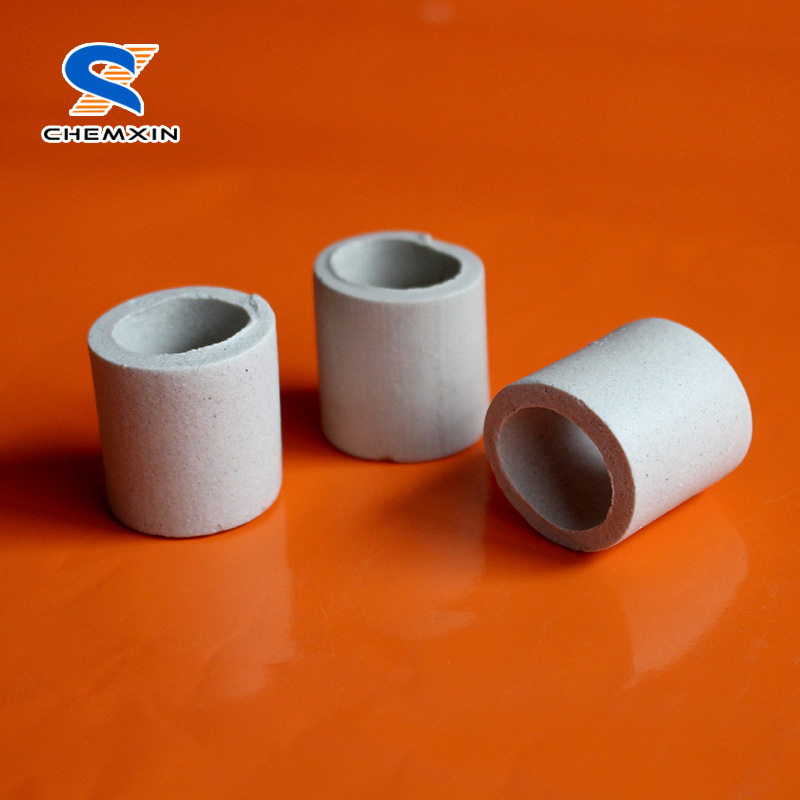 Ceramic rasching ring for adsorption tower
