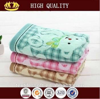 yarn dyed 100%cotton gauze velvet bear lovely kids towel