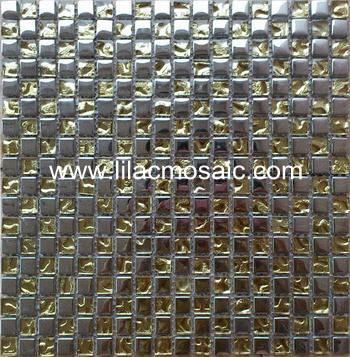15mm Glass Mosaic Tile Square For Wall Backsplash