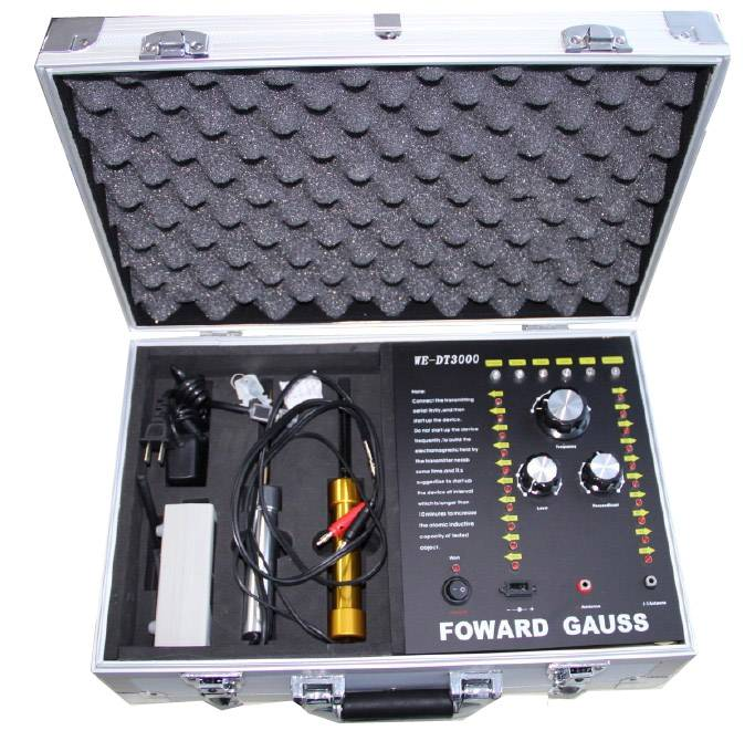 Deep search metal detector, audio and visual detector