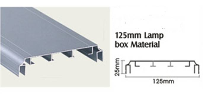 6030 series t3-t8 aluminum light box extrusion manufacturer / OEM aluminum extrusion for light box