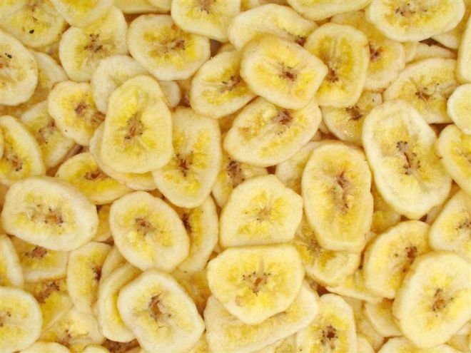 Organic freeze dried banana sliced