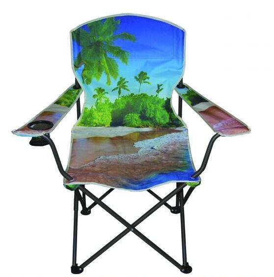 fishing chair with armrests with cup holder comfortable portable folding for beach outdoor camping