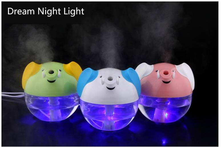 230ml 3 colours ultrasonic Mini USB Humidifier with LED Light/ ultrasonic air cleaner