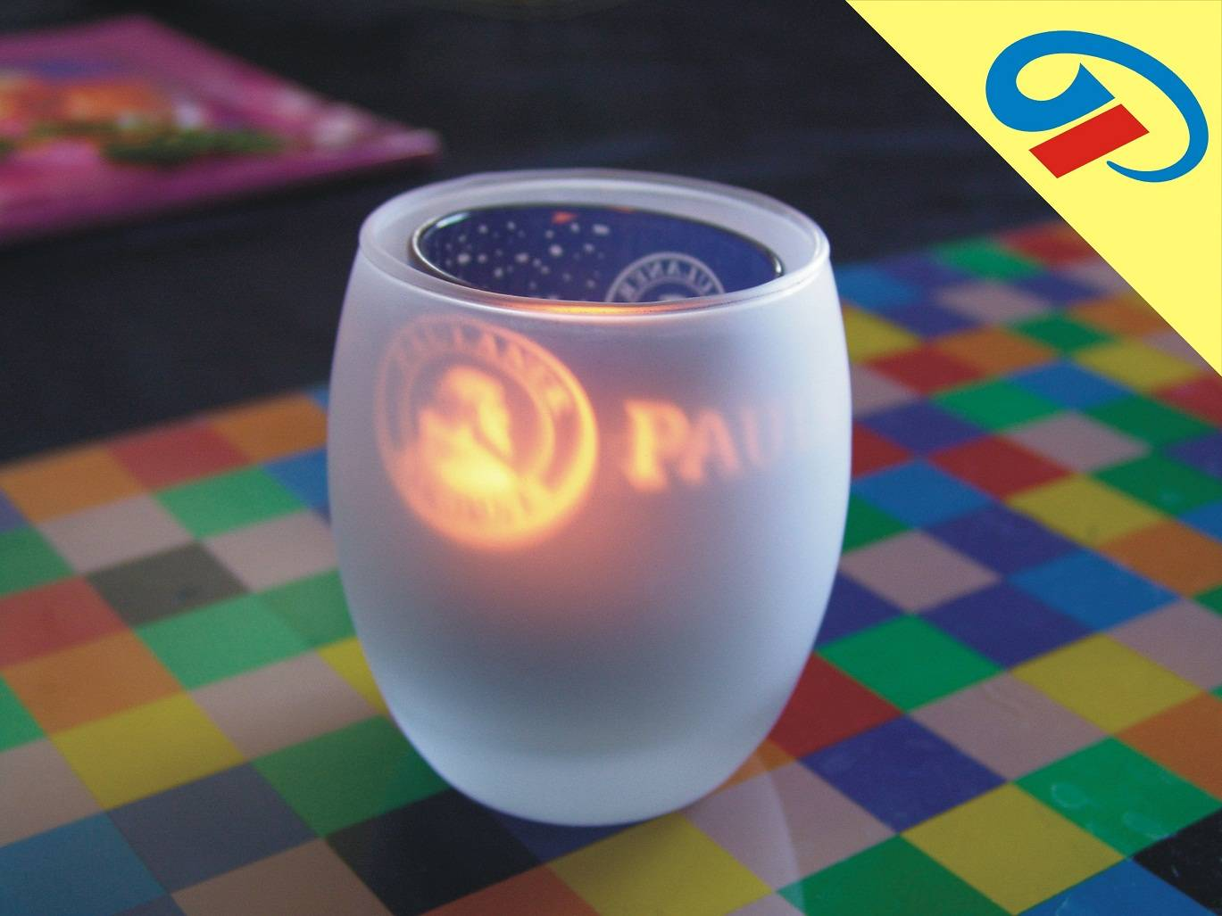 promotional item glass candle holder