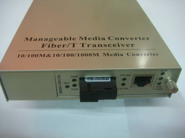 10/100/1000Mbps Manageable Fiber Media converter