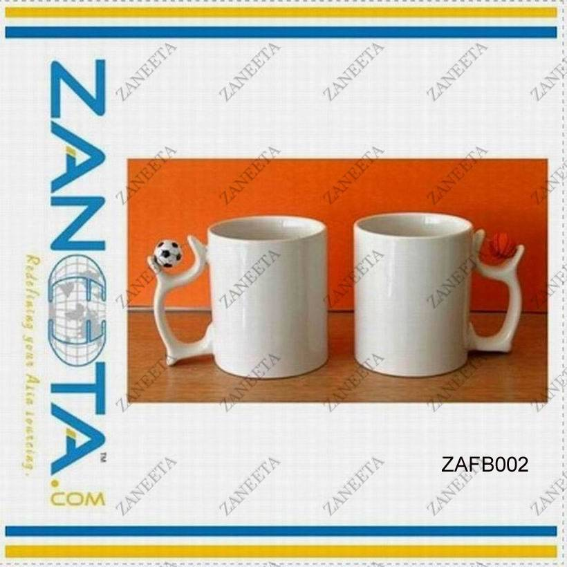 sublimation mug with football handle