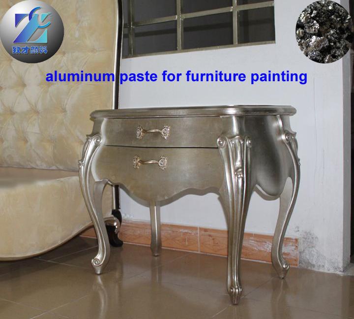 Sparkling aluminum paste for furniture paints