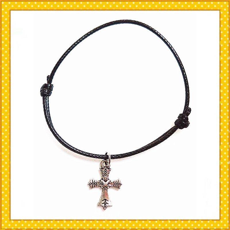 cross handmade alloy charm bracelet
