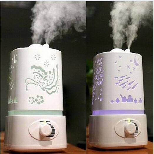 1500ML Ultrasonic Aroma Diffuser Humidifier Aromatherapy Air Purifier Mist with 7 Auto Colors Changi