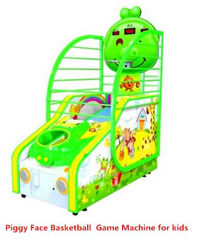 Piggy Face - Coin Operated Amusement Park Kids Basketball Arcade Game Lottery Machine Redemption Gam