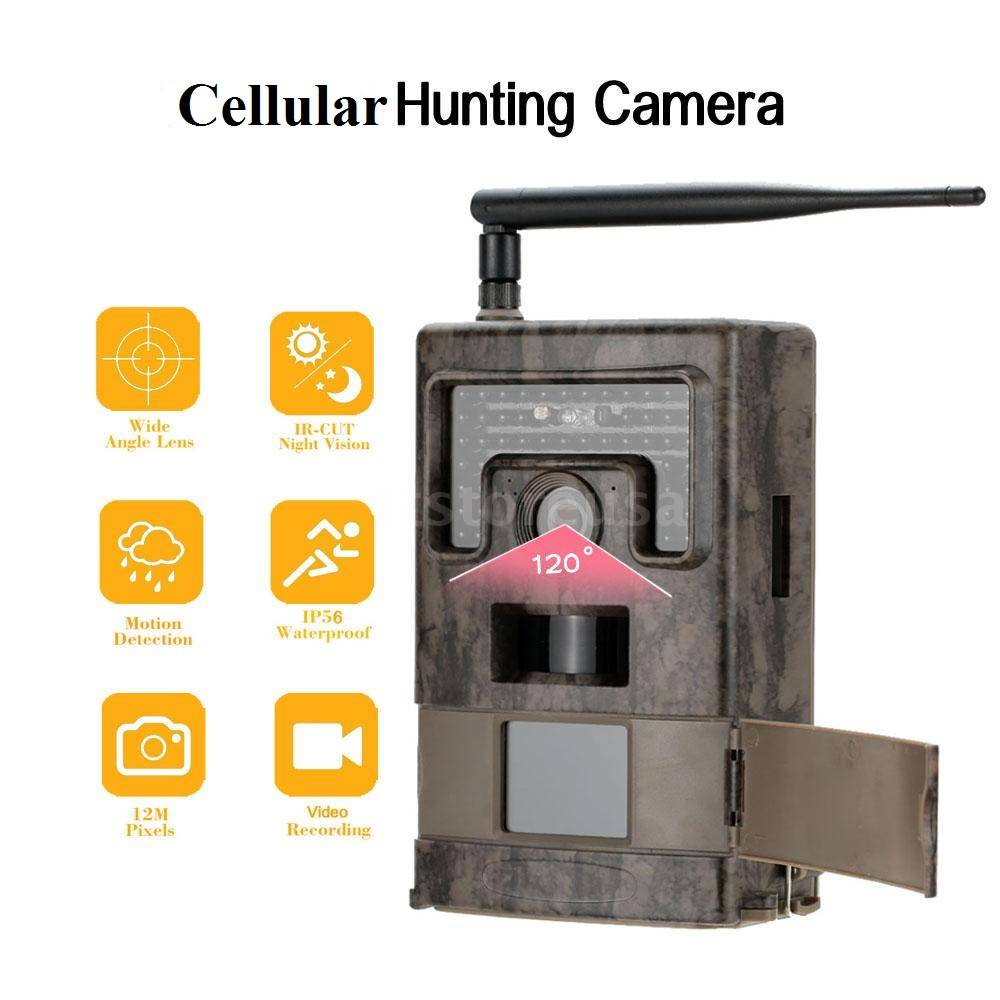 12mp 1080P Camo infrared MMS GPRS Wireless Trail Camera 940nm 48pcs IR LED