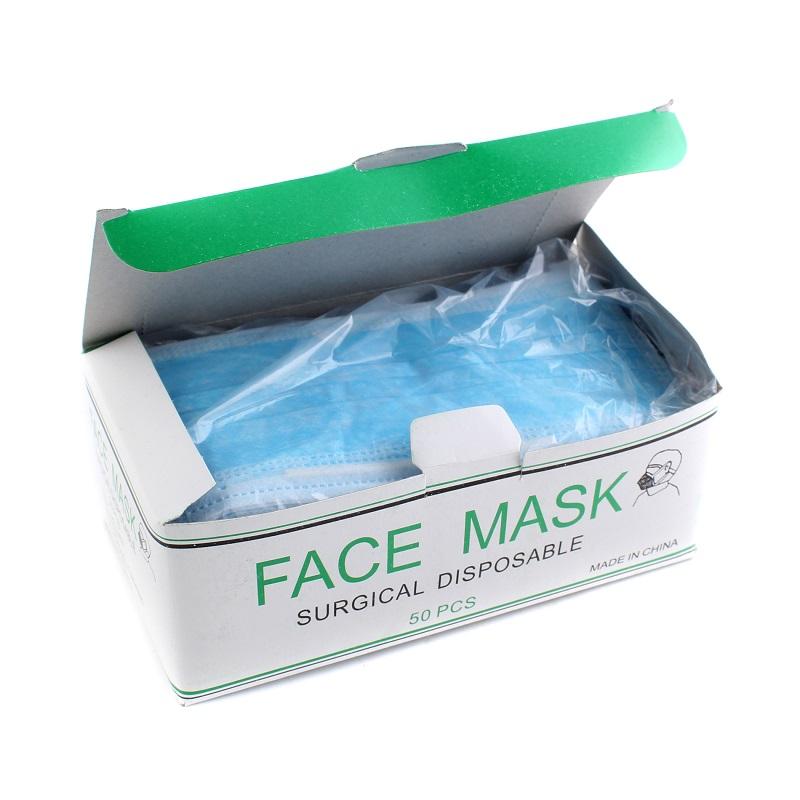 Factory wholesale disposable non-woven 3-ply face mask / non woven 3-ply surgical mask