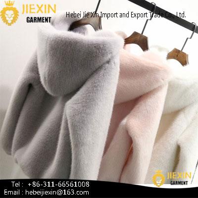 Fashion Women Faux Mink Fur Coat
