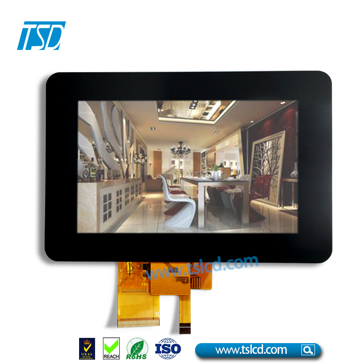 High brightness Capacitive touch TFT LCD 5.0 inch 800x480 for outdoors and indoors