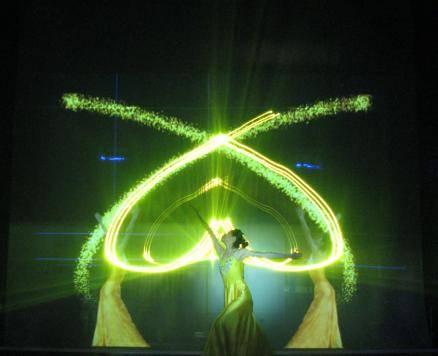 Electric lifting laser demo screen, moving light demo screen