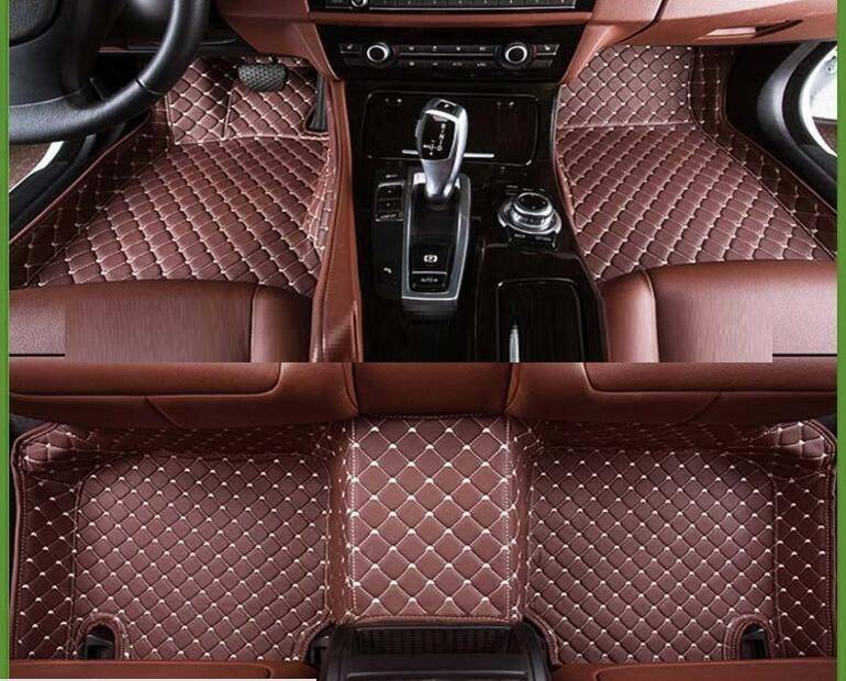 toyota innova car accessories 5D car floor mats leather car mats with eco-friendly XPE material