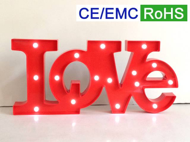 LED letters/signs/marquee LOVE