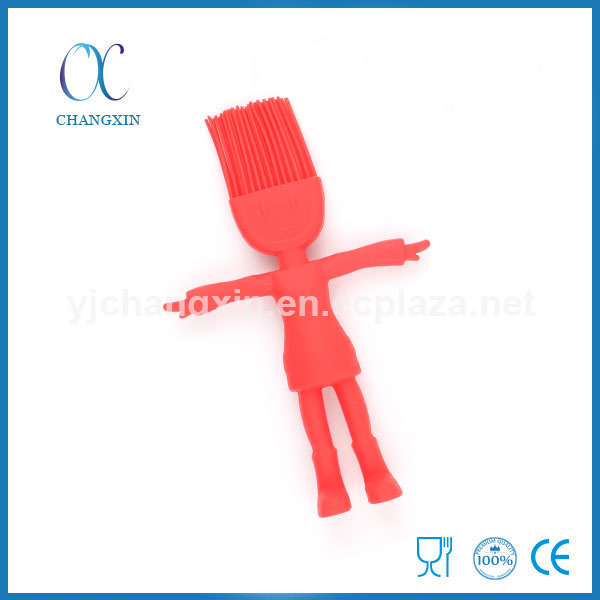 Cute Design Cartoon Minifigure Kids Silicone Baking Brush