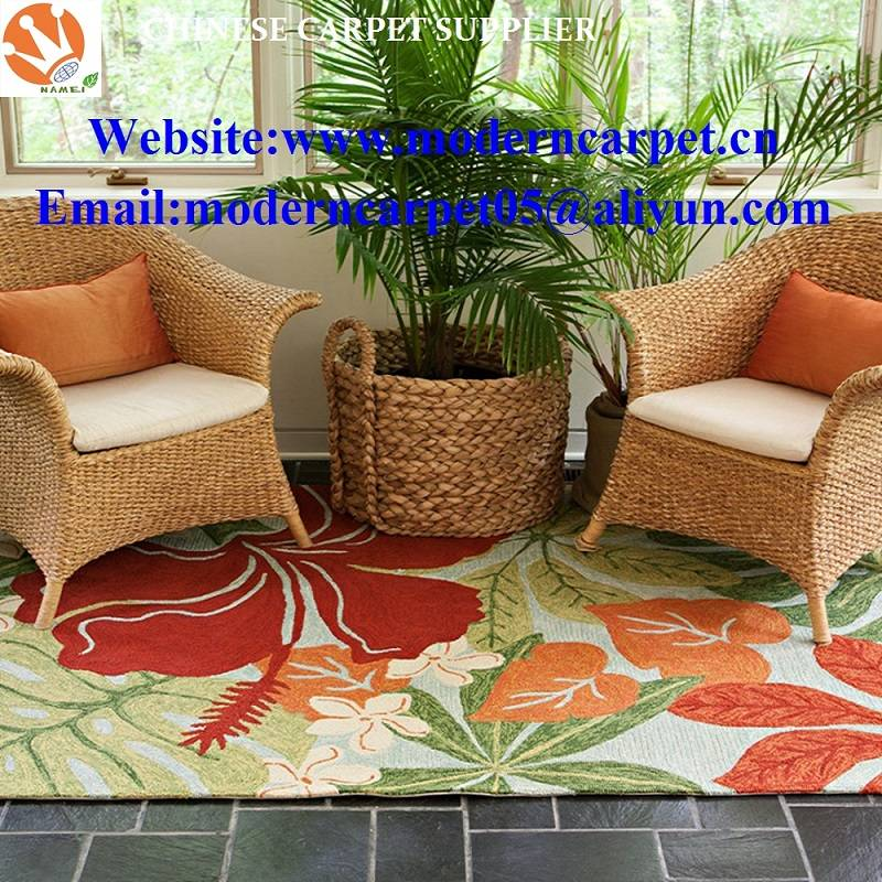 Polyester Hand hooked indoor outdoor rugs