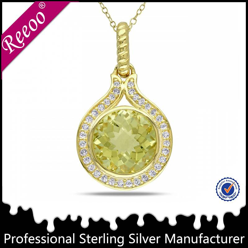 18K gold pendant designs women gold necklace jewelry