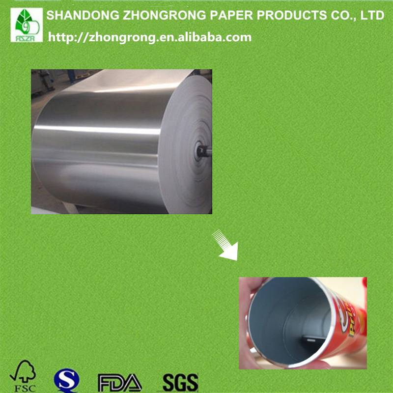 alu foil laminated paper for potato chip can lining