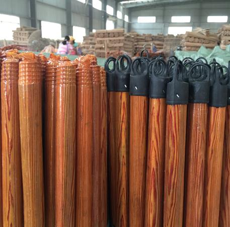 120x2.2cm Wood PVC Coated Wooden Broom Handles