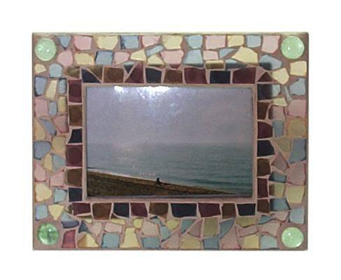 Gold Mosaic Glass Picture Frames